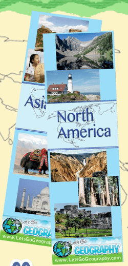 Continent Bookmarks from Let's Go Homeschool Geography