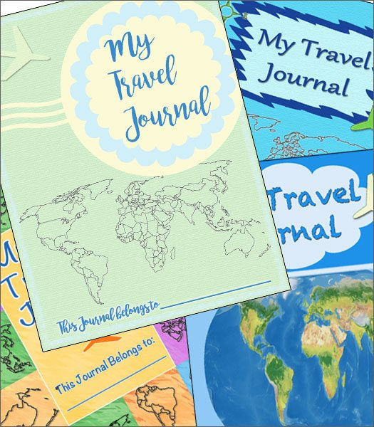 Free Travel Journal Covers for Homeschool Geography