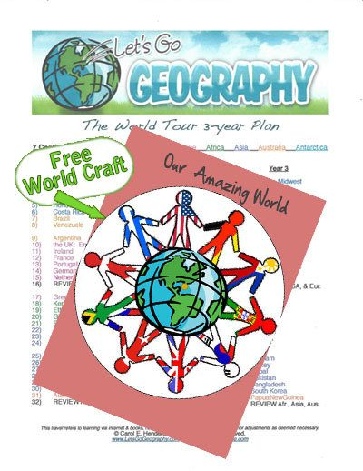 Free Homeschool Geography Craft with Curriculum Itinerary