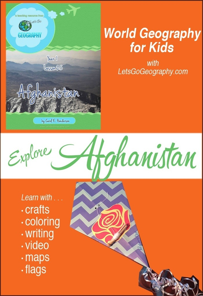 Geography Kids Craft for Afghanistan