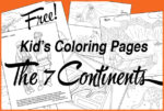 Free Continent Coloring Pages