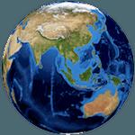 Globe, Asia, Australia