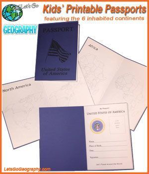 Printable Passport for Kids