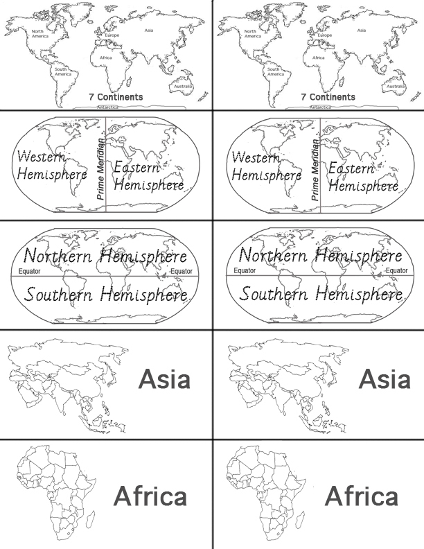 Preview of Geography Matching Game Cards