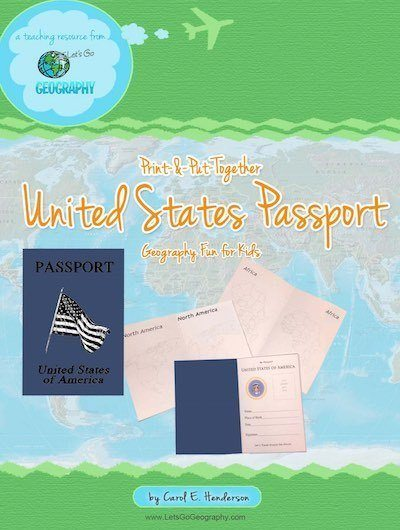 Printable United States Passport for Kids