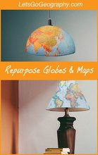 Make Map Lampshades & Pendant Lights