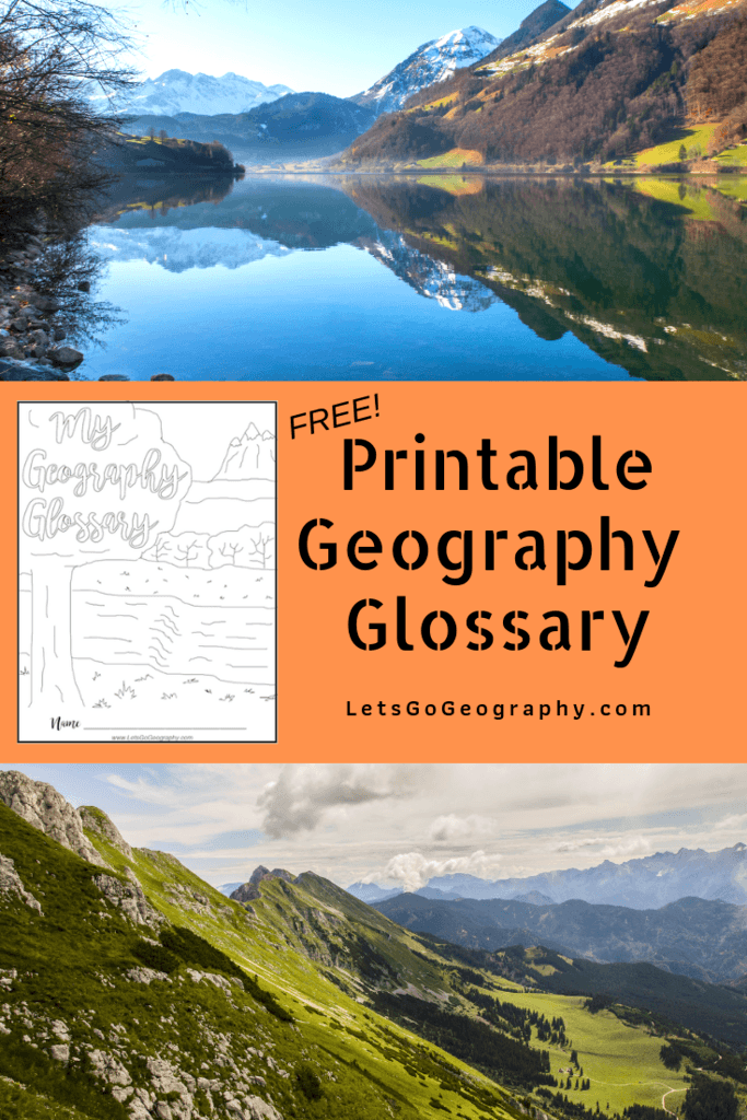 Free Printable Geography Glossary