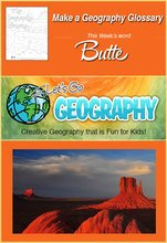 Let's Go Geography Glossary-Butte