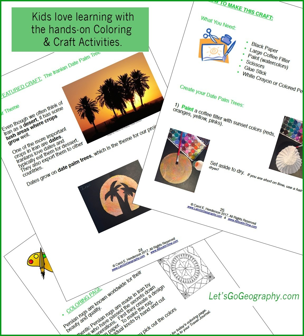 Let's Go Geography Creative Pages