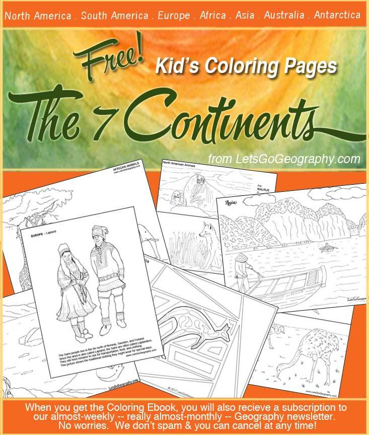 Free Geography Coloring Pages