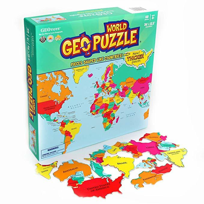 GeoPuzzle World Geography Puzzle