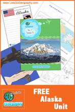 This FREE unit from Let's Go Geography shows kids the best of Alaska with creative activities. Watch video, listen to music, make crafts. It's all here...and it's free! Share this Pin with friends! #homeschoolgeographycurriculum #homeschoolgeography #letsgogeography #geographyforkids #alaskaforkids #freeactivitiesforkids #freeactivitiesforkidsathome #freeactivityprintablesforkidsKids