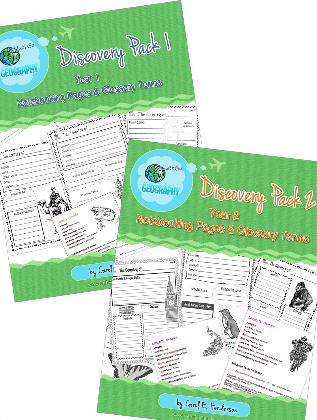 Kids love to write about geography with Notebooking Pages that complement each lesson from Let's Go Geography. The Discovery Pack also comes with a Printable Glossary page and list of all geography terms for every lesson. Grades 3-5. #letsgogeography #geographyforkids #homeschoolgeography