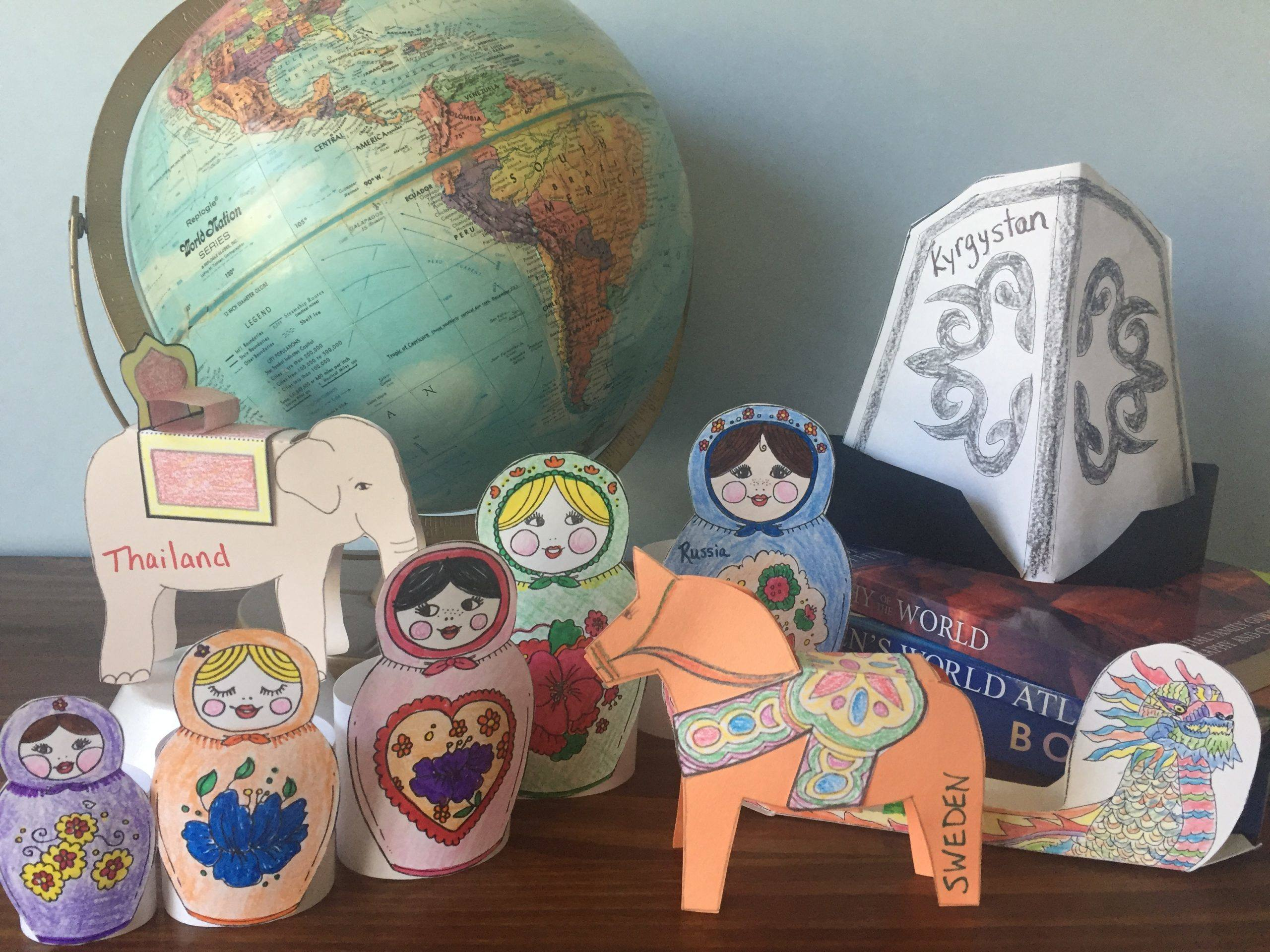 Let's Go Geography teaches kids the countries of the globe with fun activities and hands-on projects. Younger kids love the video, music, & creative art projects. Older kids add Notebooking, atlas research, & additional maps. Moms & Teachers love how it makes their job so easy. Share this Pin! #homeschoolgeographycurriculum #homeschoolgeography #geographycurriculum #letsgogeography #geographyforkids #geographyoftheworld #elementarygeographycurriculum #makinggeographyfun