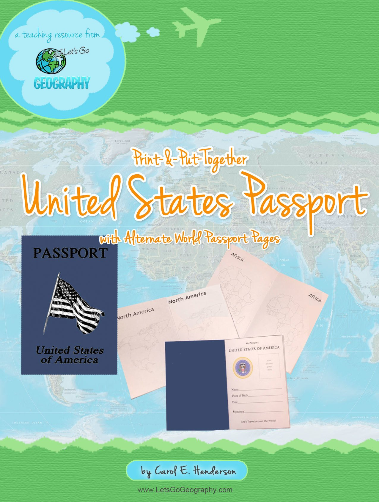 Download this Printable Passport for Kids and make as many as you need! Each page is decorated with a continent for learning fun! Share with friends!