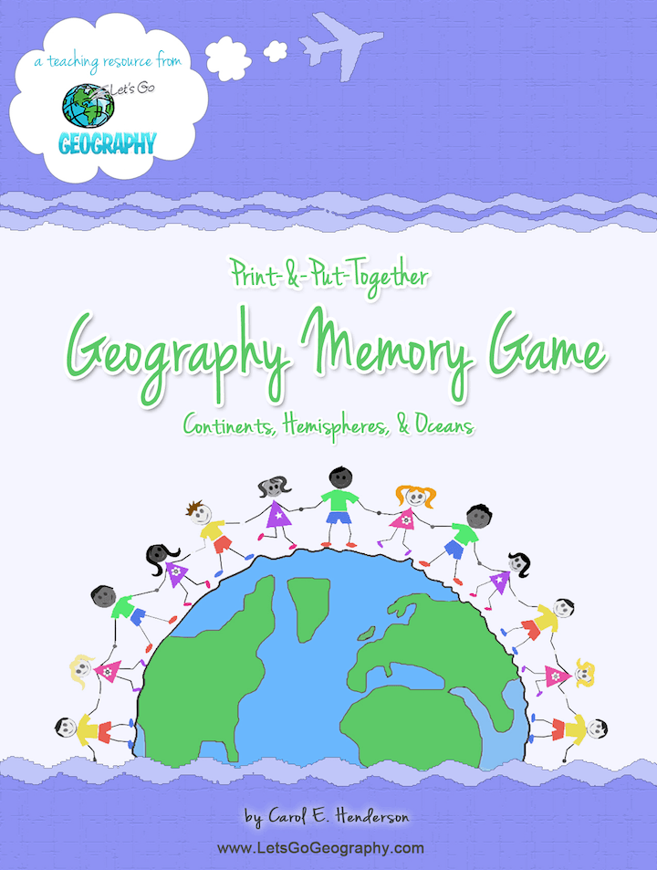 Kids make their own Geography Memory Game with these printables! Color and cut out the cards, and create a holder to keep everything in a Geography Binder. Share this with friends!