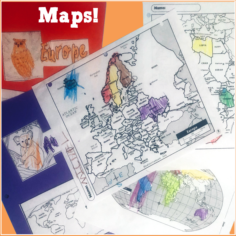 Geography Maps Square 6
