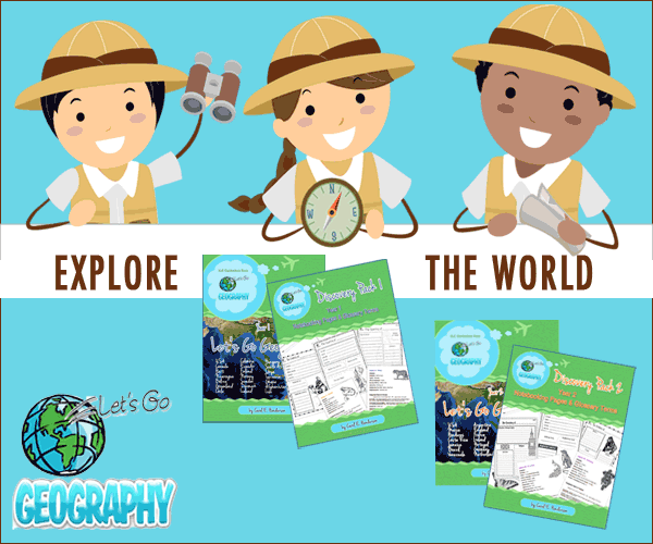 Get the best homeschool Geography Curriculum for K-5th grades! Kids learn a new country every week with hands-on activities for every learning style. The companion Discovery Pack has decorated Notebooking for every Lesson! Share with friends! #homeschoolgeographyelementary #homeschoolgeographycurriculum #homeschoolgeographylessonplans #homeschoolgeographychildren #homeschoolgeography #makinggeographyfun #letsgogeography
