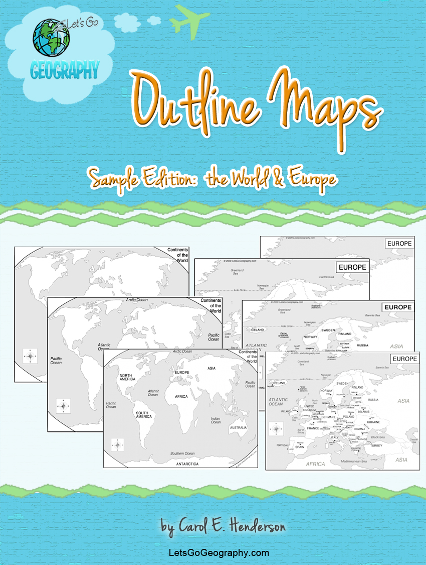 Get FREE outline & blank maps of the world & the continent of Europe from Let's Go Geography. Share with friends!  #outline maps #blankmapoftheworld #freemaps #blankcontinentmaps #freeoutlinemaps #letsgogeography